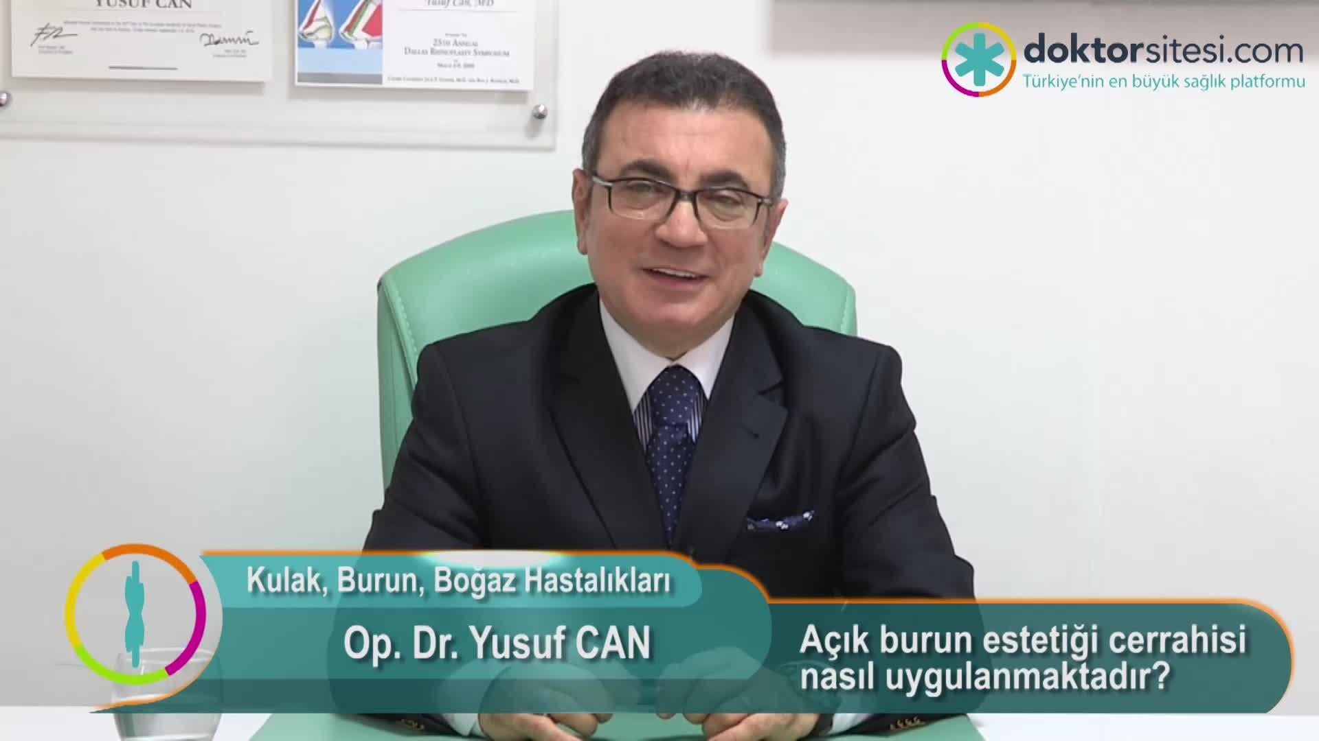 """Açık burun estetiği cerrahisi nasıl uygulanmaktadır? """"Op. Dr. Yusuf  CAN"""""""
