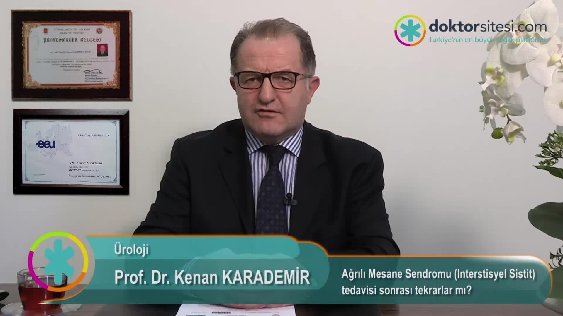 """Ağrılı Mesane Sendromu (Interstisyel Sistit) tedavisi sonrası tekrarlar mı? """"Prof. Dr. Kenan  KARADEMIR"""""""