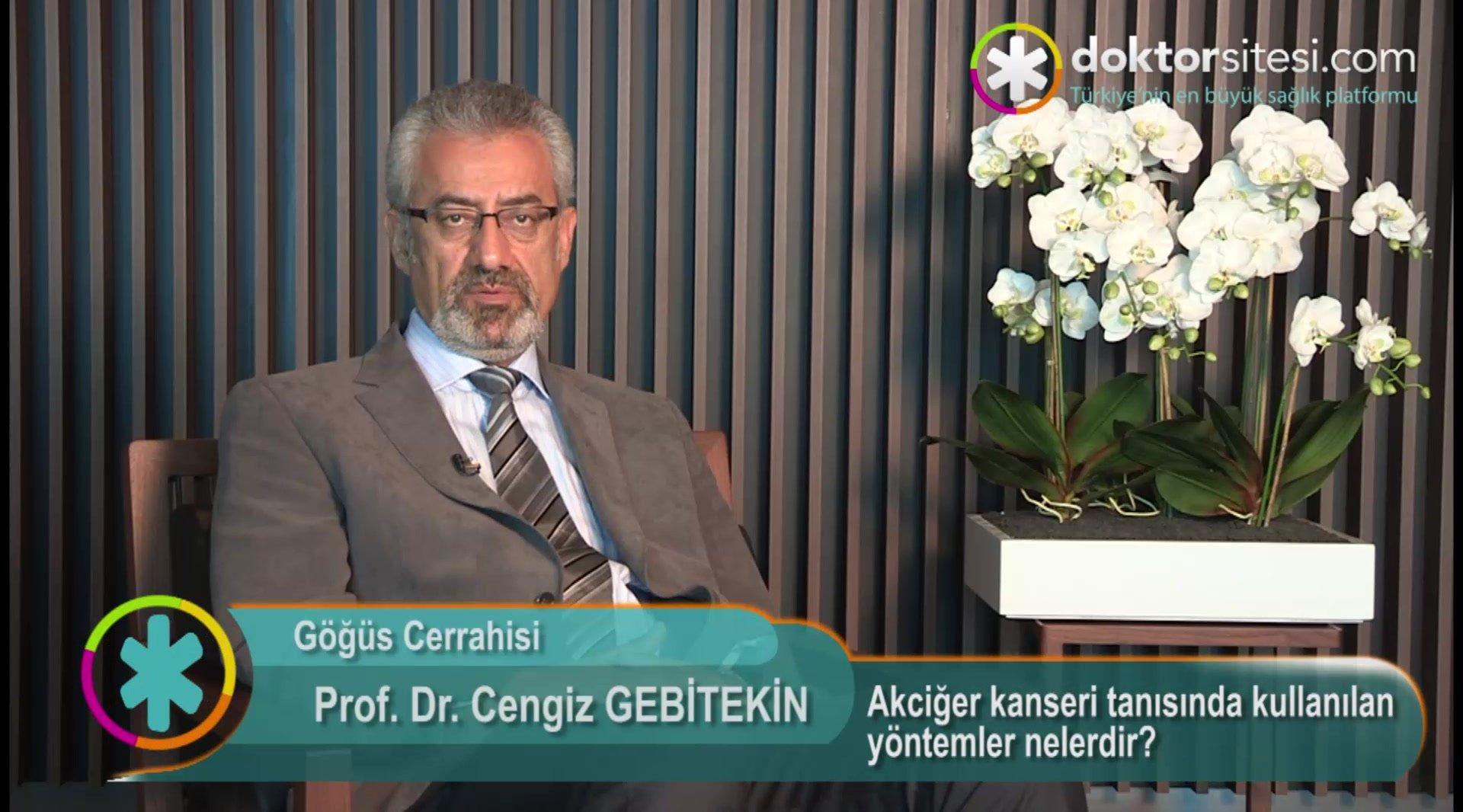 """Akciğer kanseri tanısında kullanılan yöntemler nelerdir? """" Prof. Dr.Cengiz  GEBITEKIN """""""