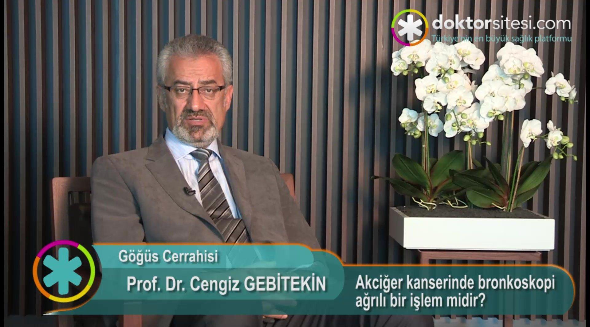 """Akciğer kanserinde bronkoskopi ağrılı bir işlem midir? """" Prof. Dr.Cengiz  GEBITEKIN """""""