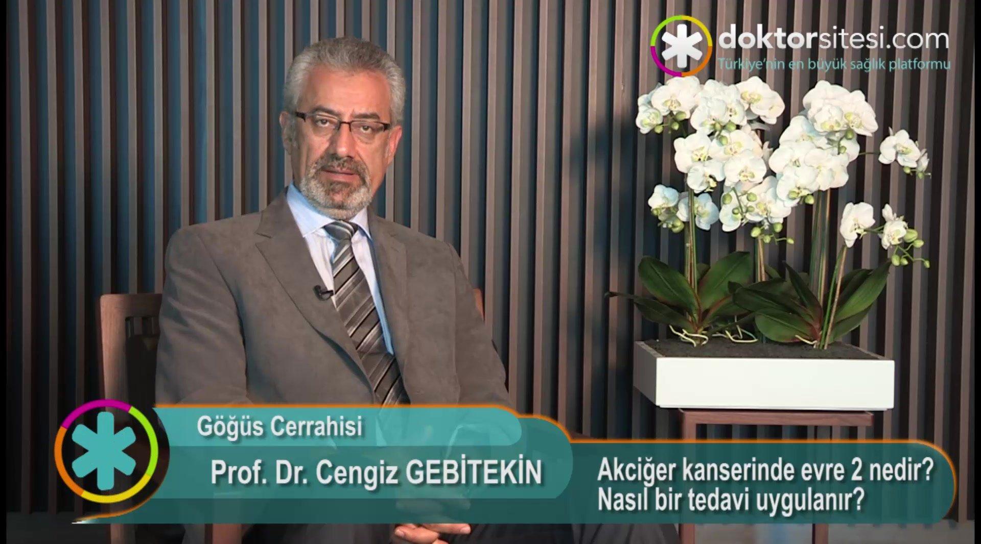"""Akciğer kanserinde evre 2 nedir? Nasıl bir tedavi uygulanır? """" Prof. Dr.Cengiz  GEBITEKIN """""""