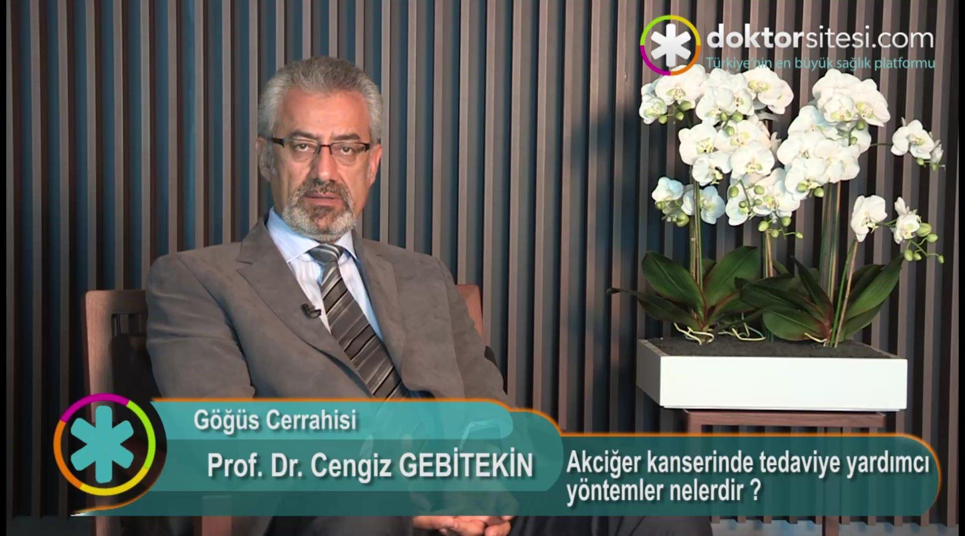 """Akciğer kanserinde tedaviye yardımcı yöntemler nelerdir ? """" Prof. Dr.Cengiz  GEBITEKIN """""""