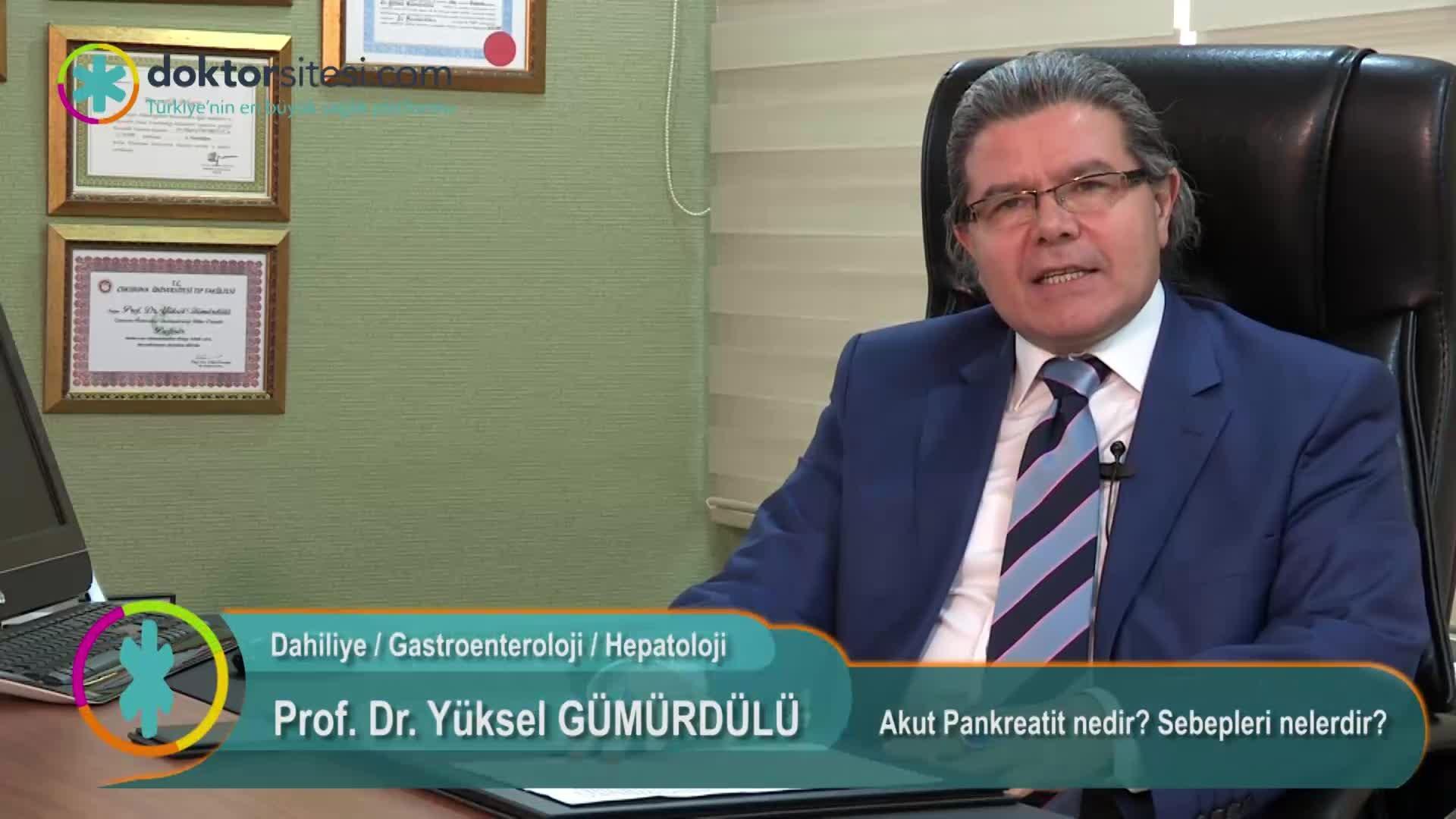 """Akut Pankreatit nedir? Sebepleri nelerdir? """"Prof. Dr. Yüksel  GÜMÜRDÜLÜ"""""""