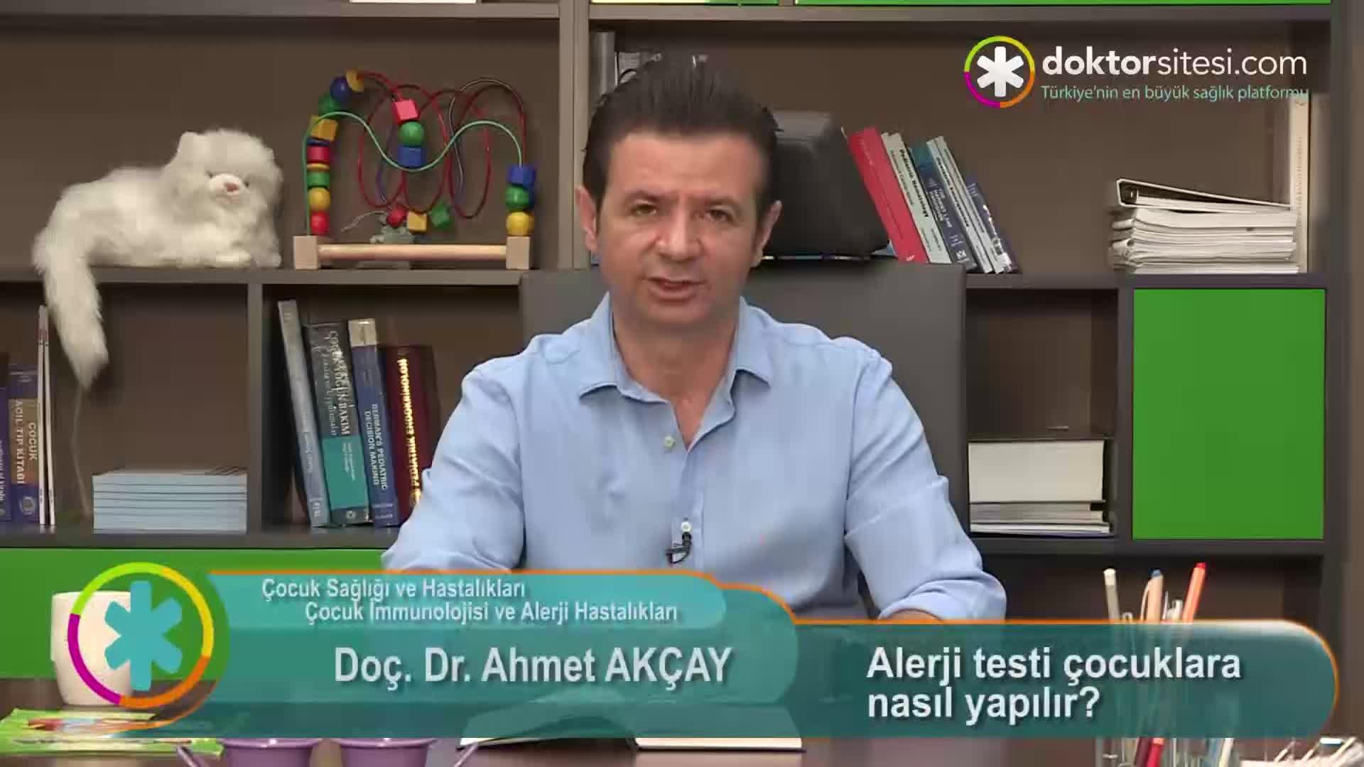 """Alerji testi çocuklara nasıl yapılır? """"Prof. Dr. Ahmet  AKÇAY"""""""