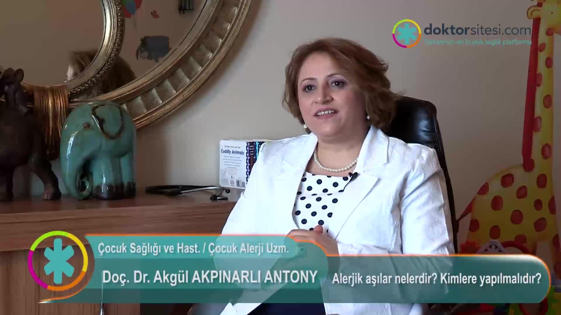 """Alerjik aşılar nelerdir? Kimlere yapılmalıdır? """" Doç. Dr.Akgül  AKPINARLI """""""