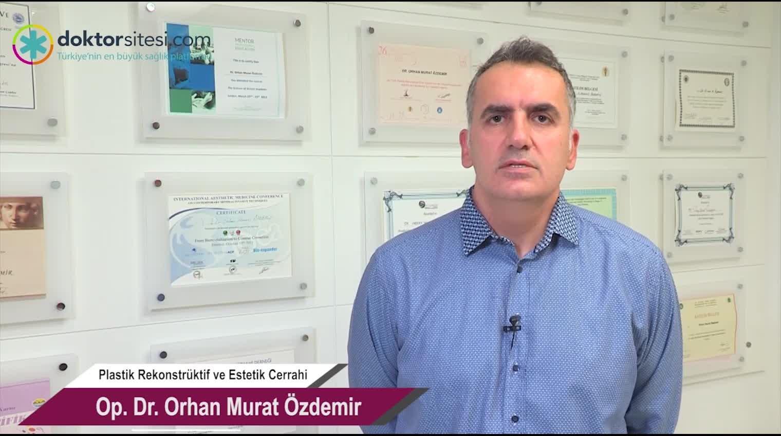 """Alın çizgileri dolgusu """"Op. Dr. Orhan Murat  ÖZDEMIR"""""""
