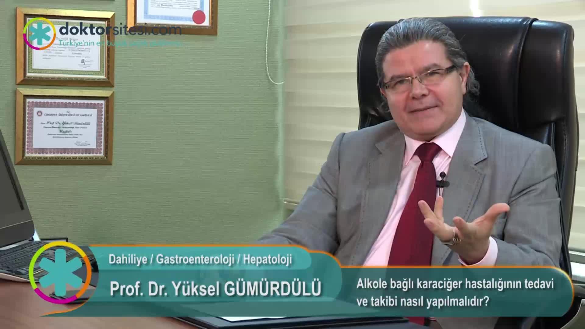 """Alkole bağlı karaciğer hastalığının tedavi ve takibi nasıl yapılmalıdır? """"Prof. Dr. Yüksel  GÜMÜRDÜLÜ"""""""