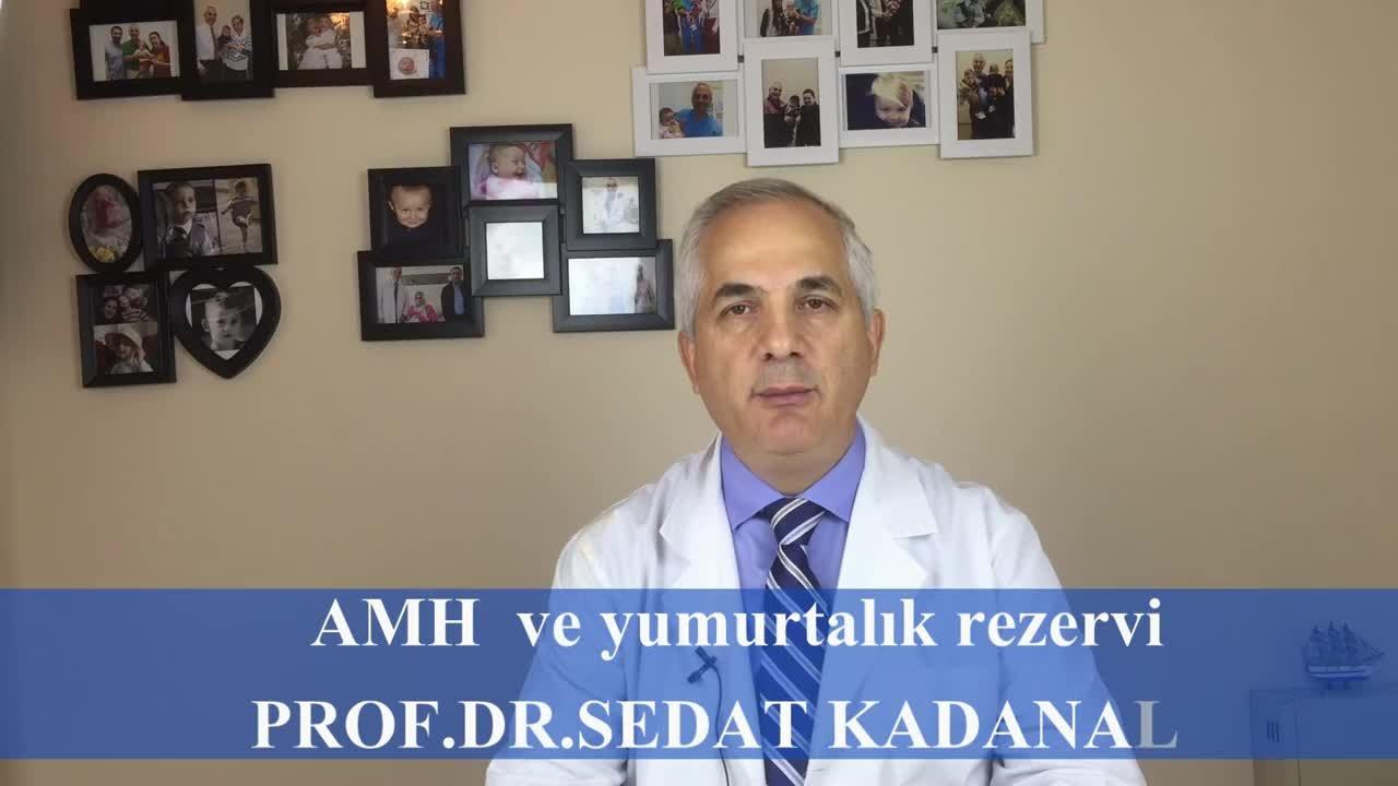 """AMH ölçümü ve yumurtalık rezervi """" Prof. Dr.Sedat  KADANALI """""""