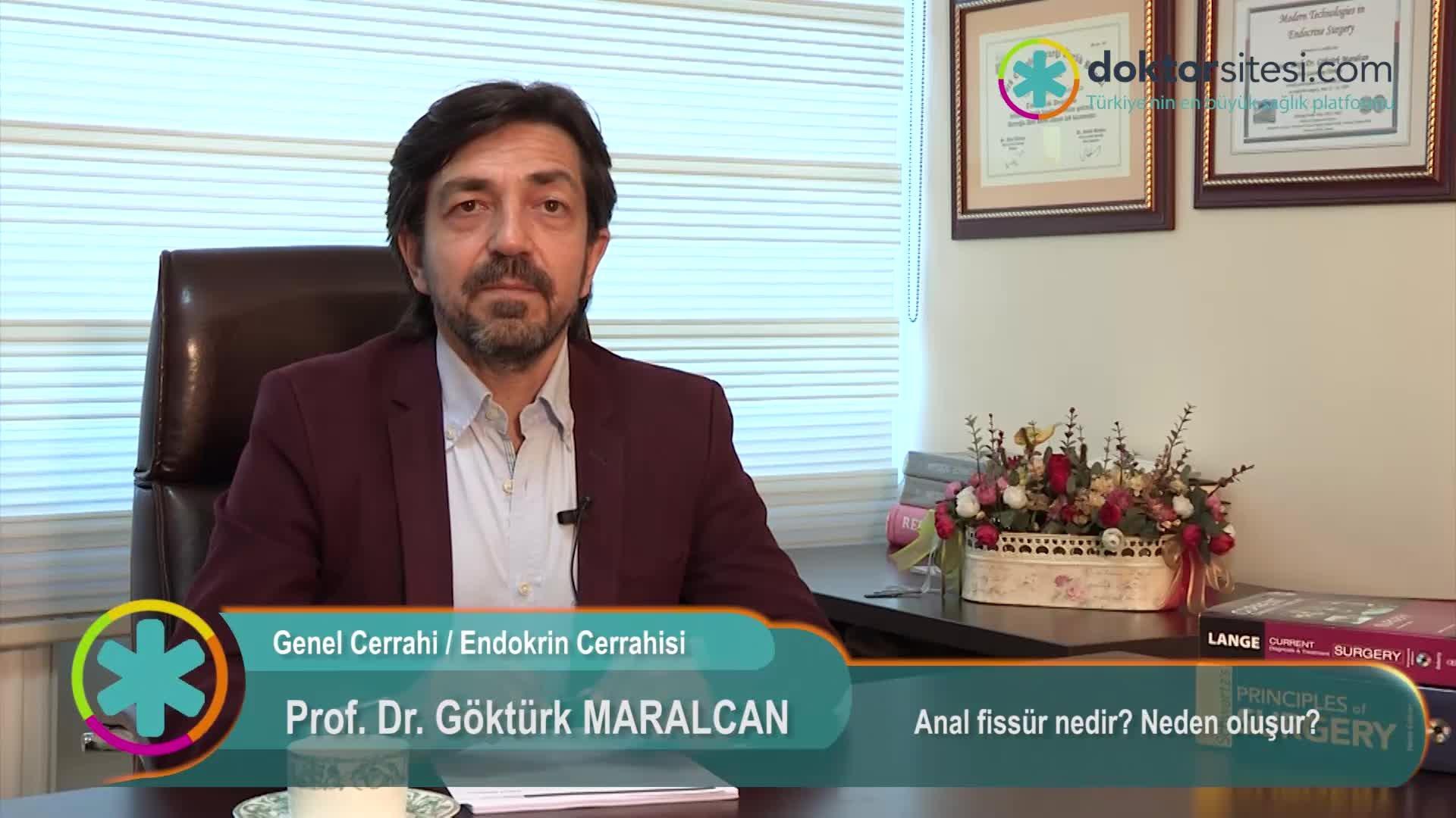 """Anal fissür nedir? Neden oluşur? """"Prof. Dr. Göktürk  MARALCAN"""""""