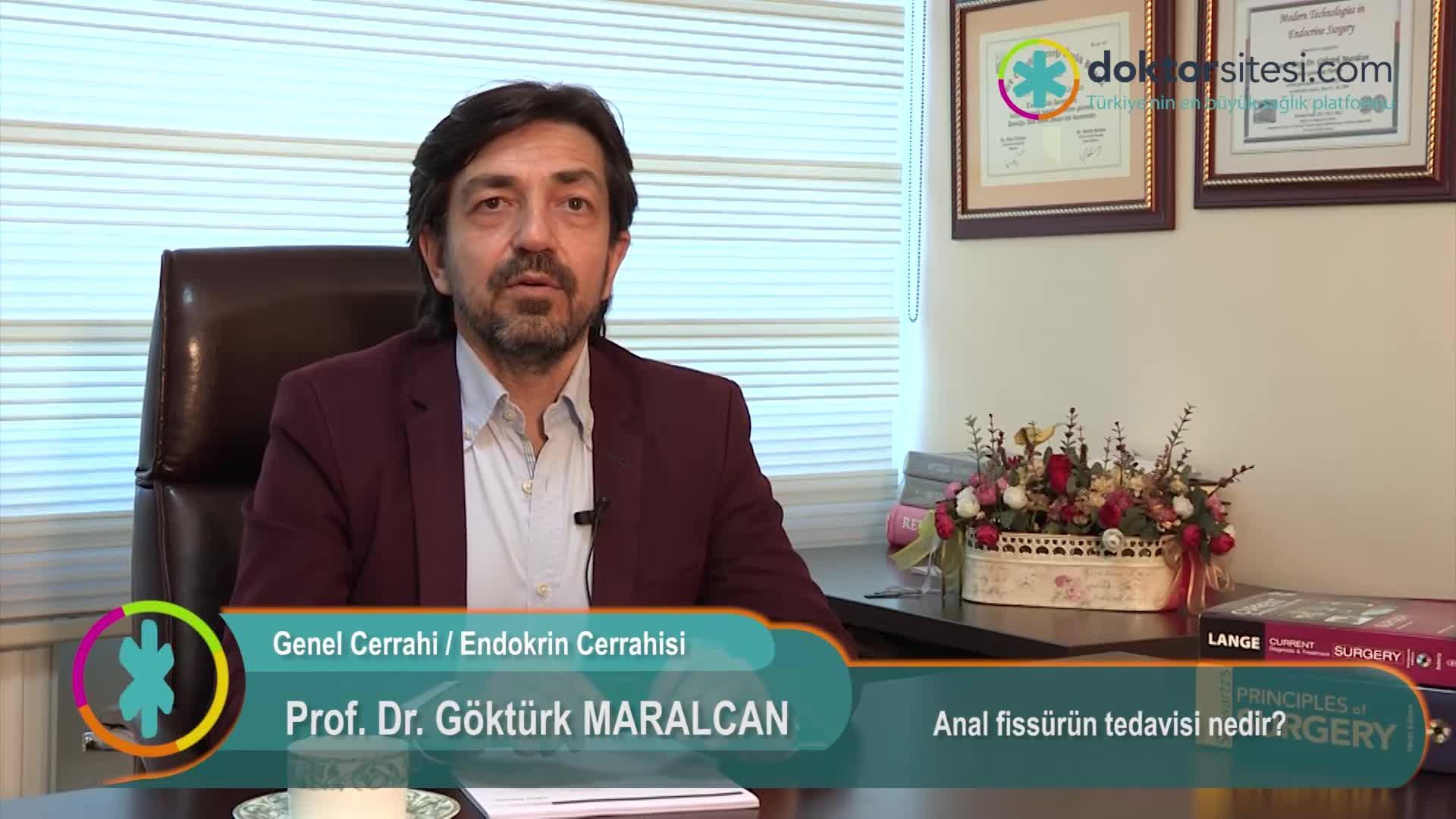"""Anal fissürün tedavisi nedir? """"Prof. Dr. Göktürk  MARALCAN"""""""