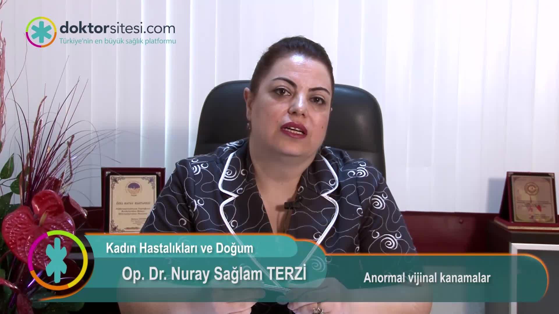 """Anormal vajinal kanamalar """"Op. Dr. Nuray  SAĞLAM TERZI"""""""