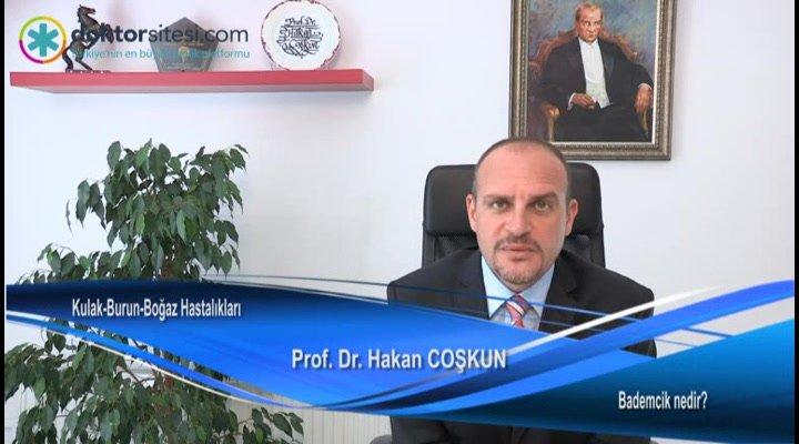 """Bademcik nedir? """"Prof. Dr. Hakan  COŞKUN"""""""