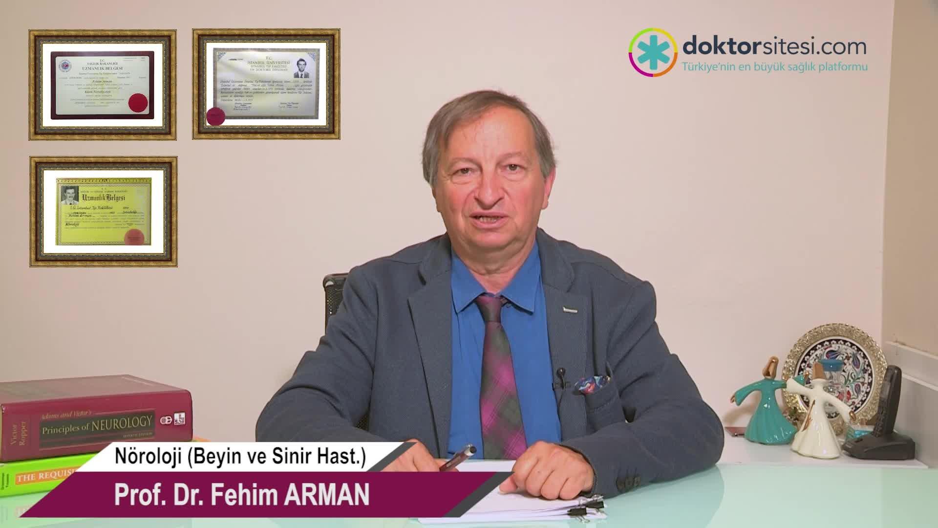 """Baş ağrısı ne zaman acil bir durumdur? """"Prof. Dr. Fehim  ARMAN"""""""