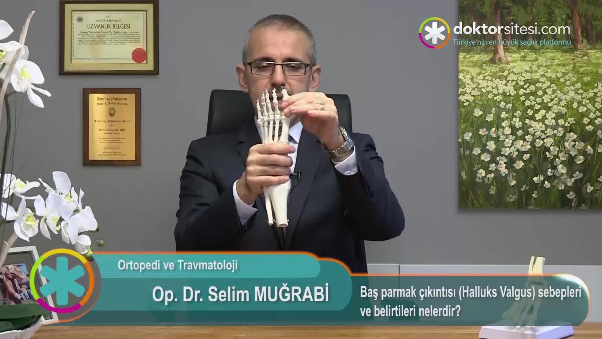 """Baş parmak çıkıntısı (Halluks Valgus) sebepleri ve belirtileri nelerdir? """"Op. Dr. SelimMUĞRABI"""""""