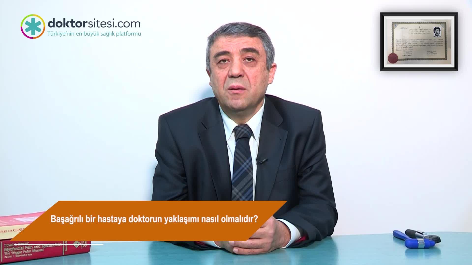 """Başağrılı bir hastaya doktorun yaklaşımı nasıl olmalıdır? """"Prof. Dr. Mehmet  ZARIFOĞLU"""""""