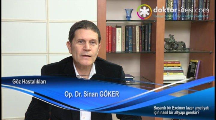 """Başarılı bir Excimer lazer ameliyatı için nasıl bir altyapı gerekir? """"Op. Dr. Sinan  GÖKER"""""""