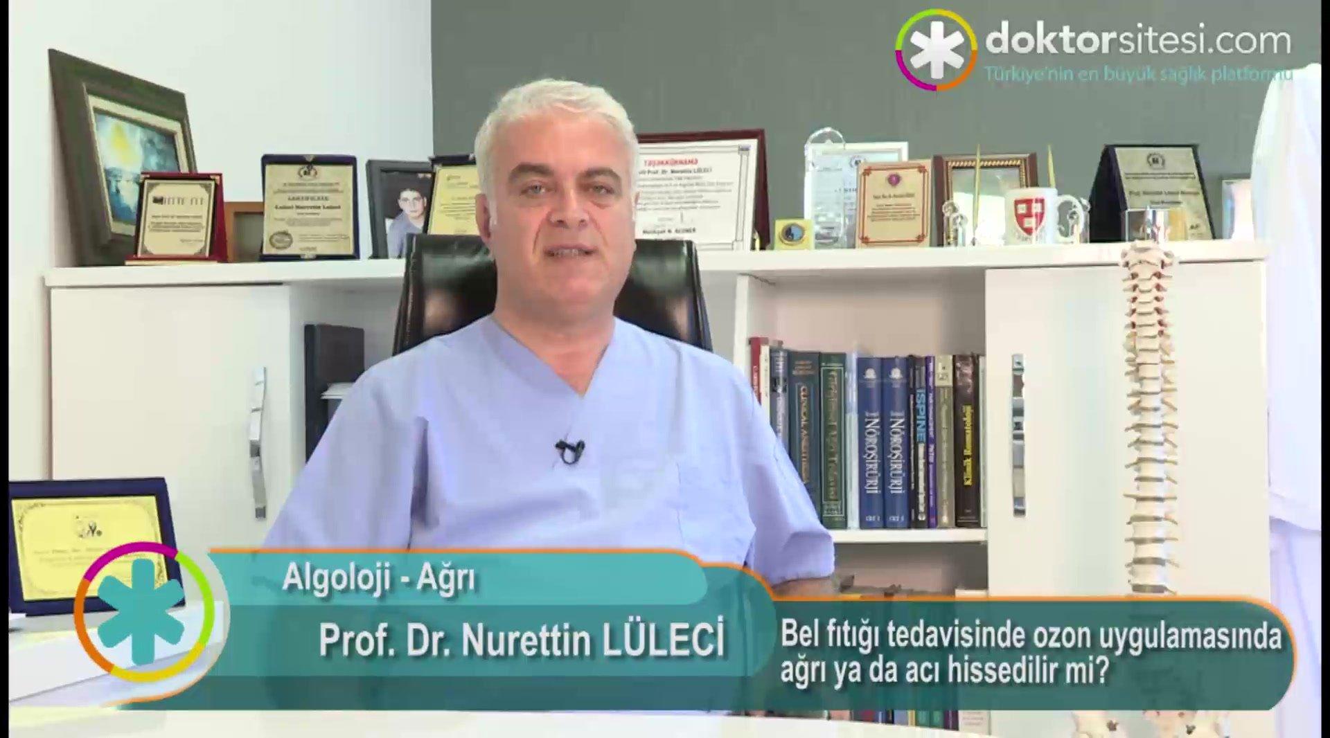"""Bel fıtığı tedavisinde ozon uygulamasında ağrı ya da acı hissedilir mi? """"Prof. Dr. Nurettin  LÜLECI"""""""