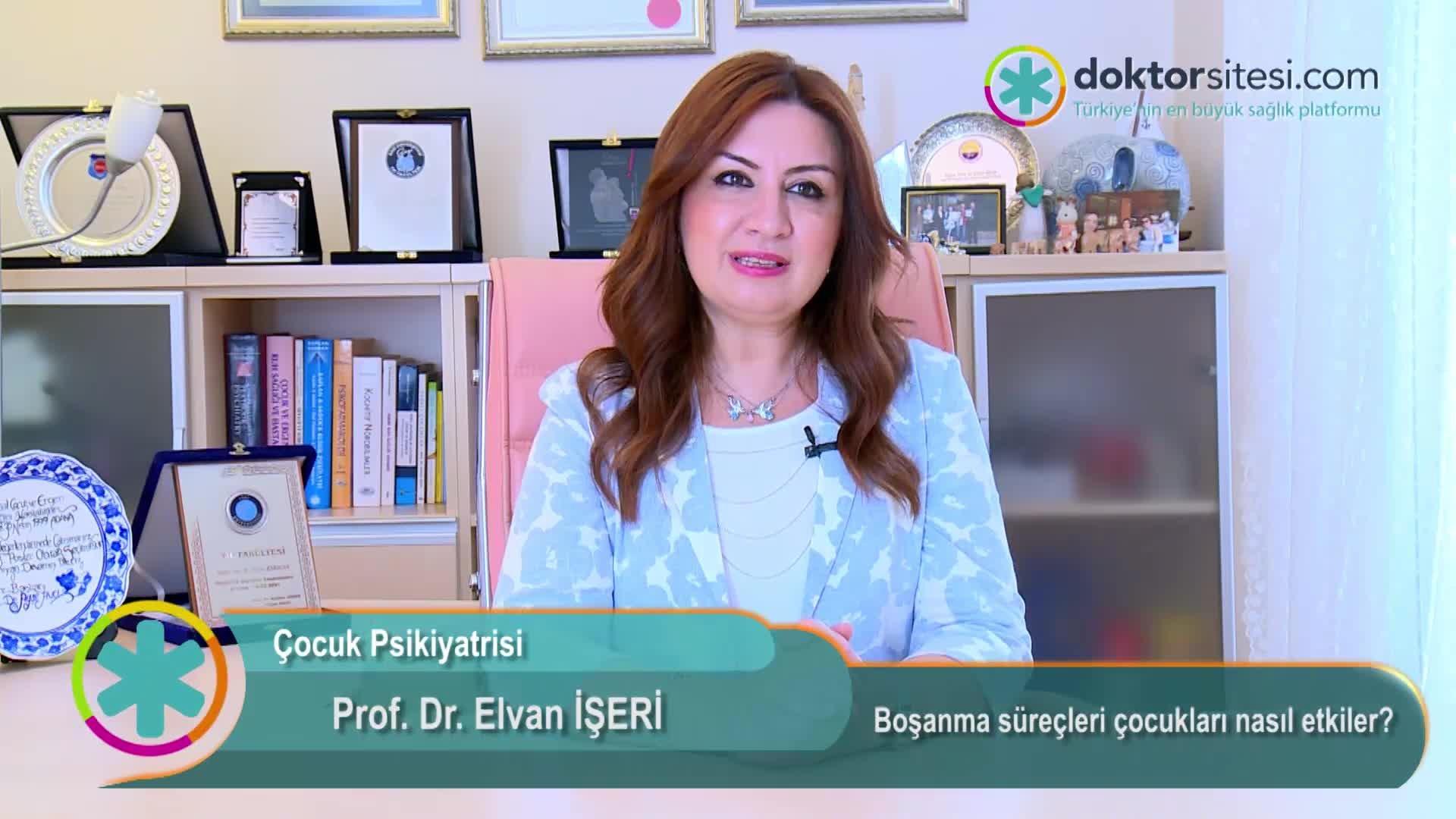"""Boşanma süreçleri çocukları nasıl etkiler? """"Prof. Dr. Elvan  İŞERI"""""""