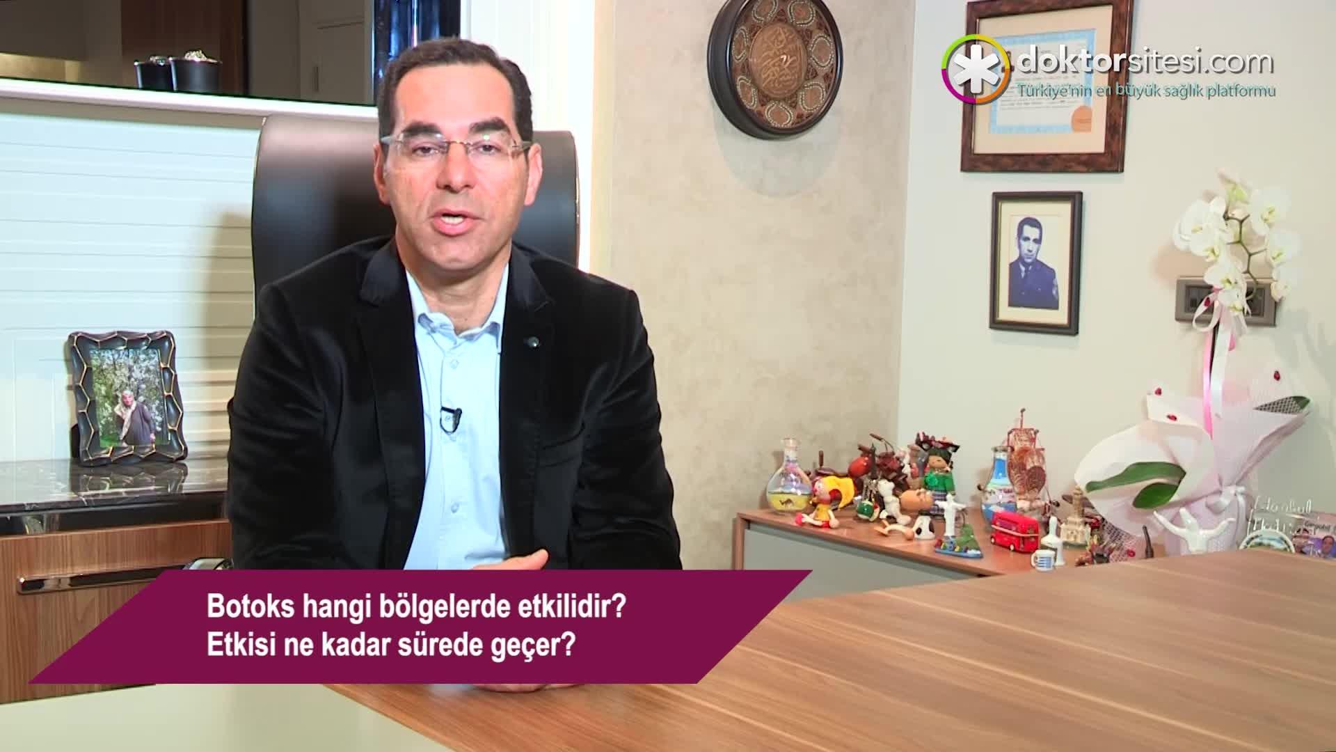 """Botoks hangi bölgelerde etkilidir? Etkisi ne kadar sürede geçer? """"Op. Dr. Mustafa  TÜRKER"""""""