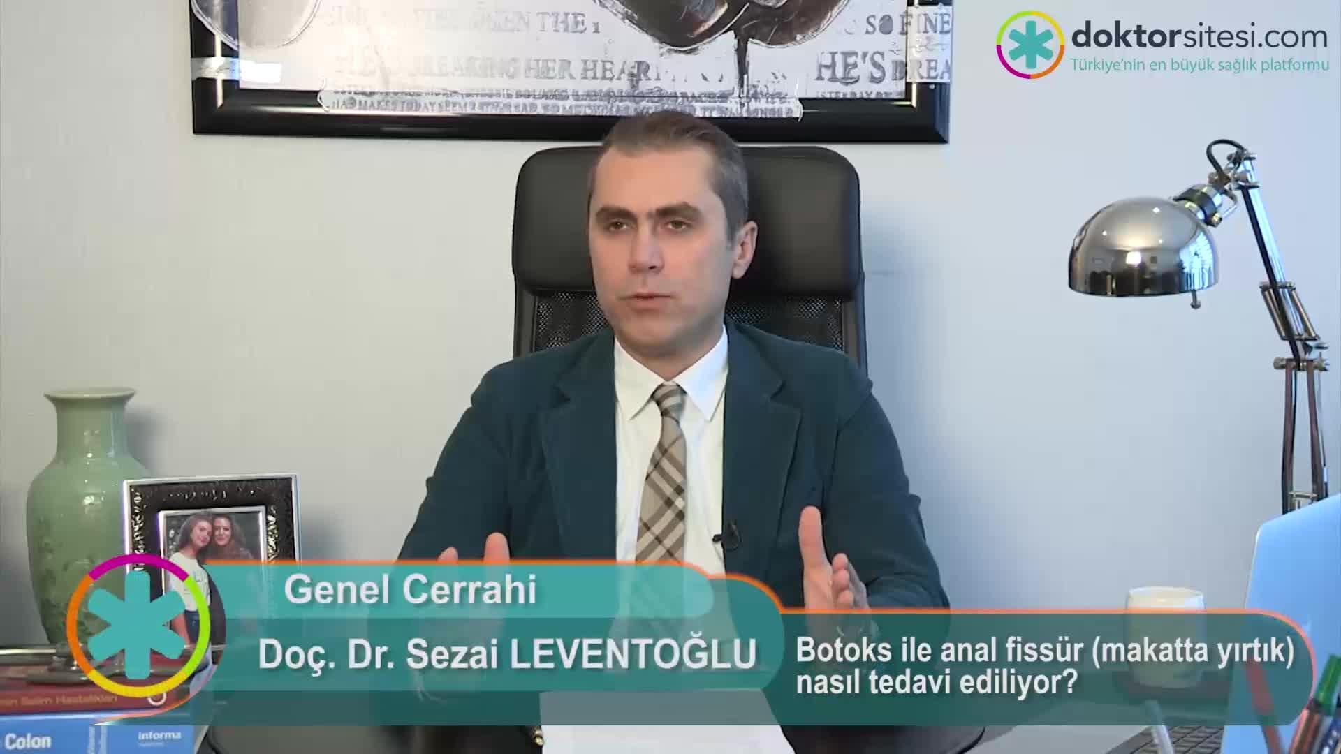 """Botoks ile anal fissür (makatta yırtık) nasıl tedavi ediliyor? """"Prof. Dr. Sezai  LEVENTOĞLU"""""""