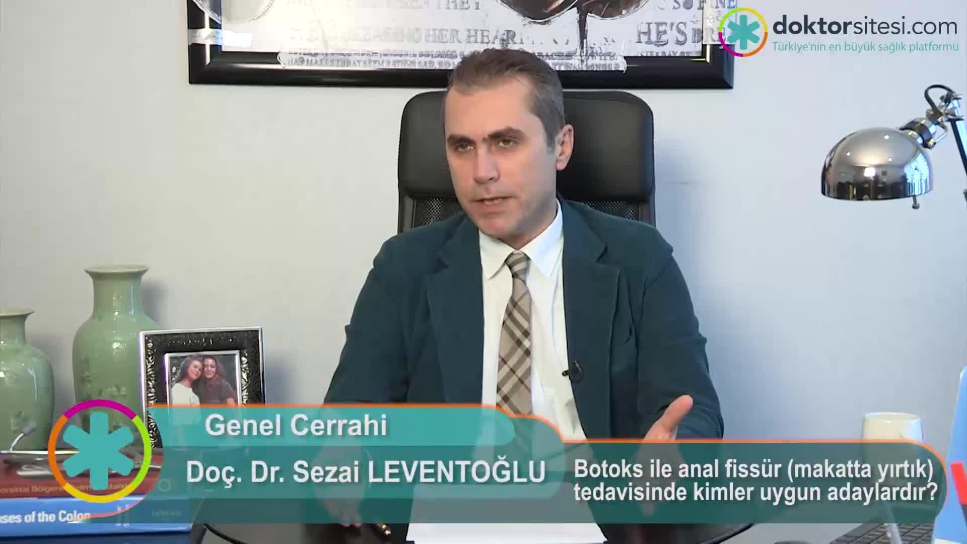 """Botoks ile anal fissür (makatta yırtık) tedavisinde kimler uygun adaylardır? """"Prof. Dr. Sezai  LEVENTOĞLU"""""""