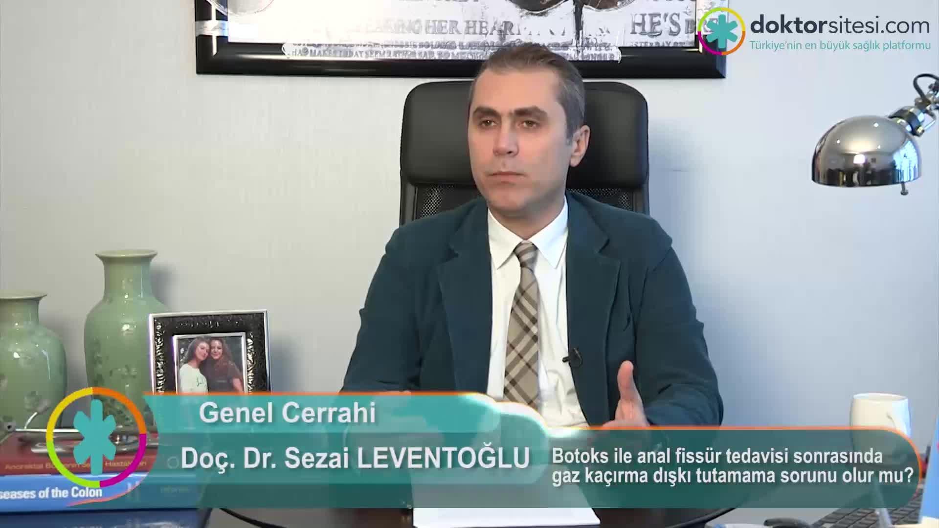 """Botoks ile anal fissür tedavisi sonrasında gaz kaçırma, dışkı tutamama sorunu olur mu? """"Prof. Dr. Sezai  LEVENTOĞLU"""""""