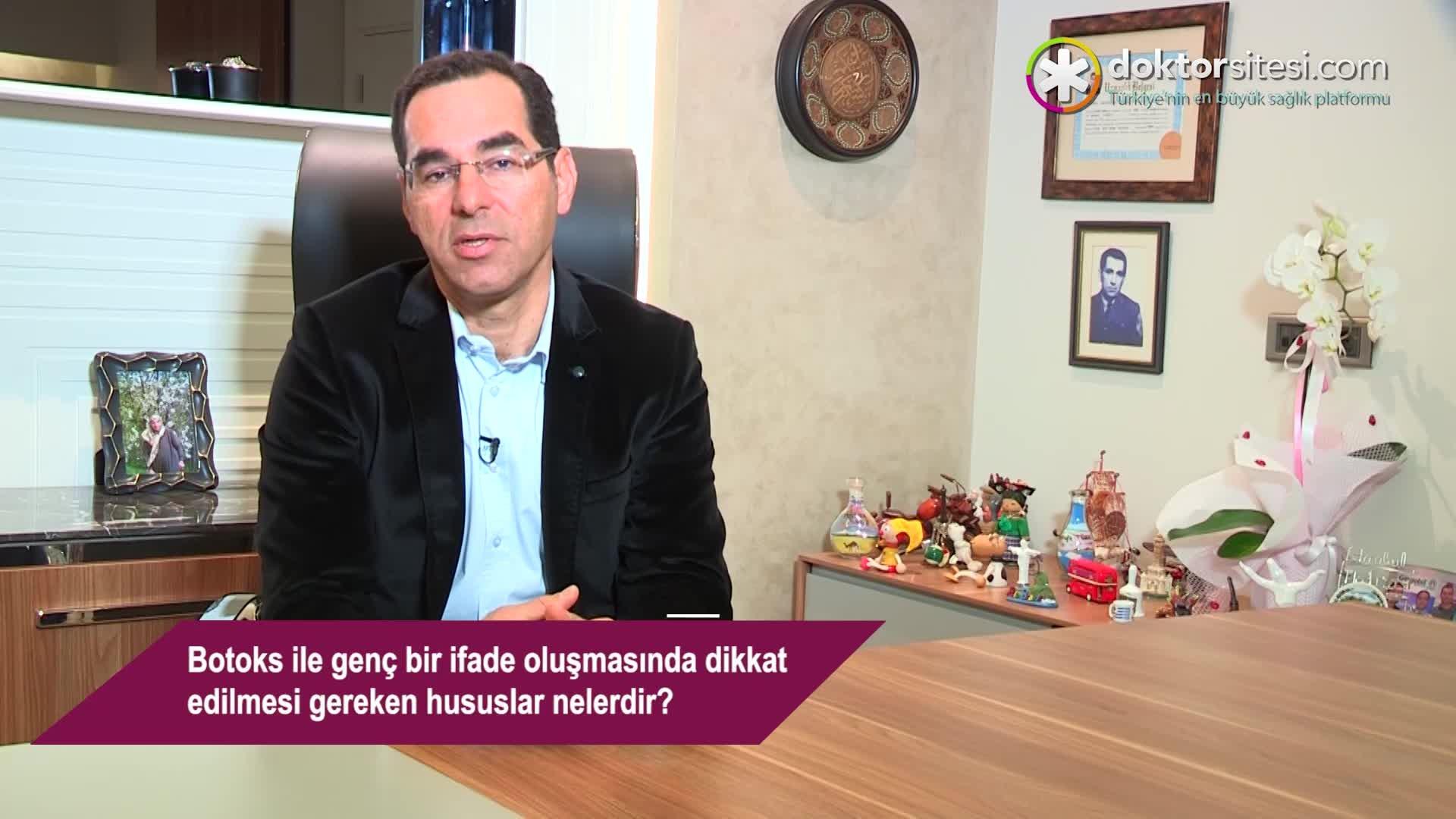 """Botoks ile genç bir ifade oluşmasında dikkat edilmesi gereken hususlar nelerdir? """"Op. Dr. Mustafa  TÜRKER"""""""